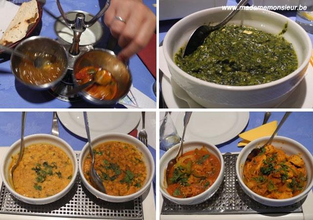 indien, curry, ris, basmati, dal, palak paneer, moins de 50 euros
