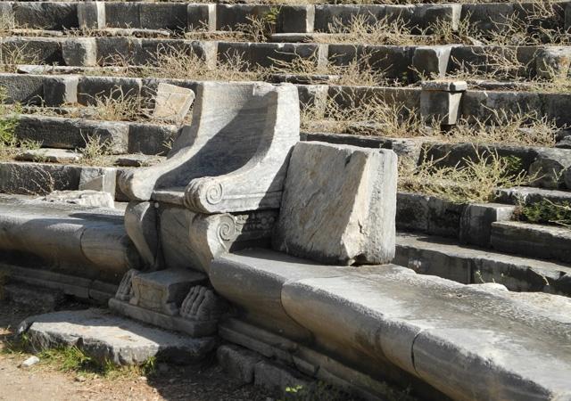 turquie,voyage,priene,archeologie,romain,visite, theatre, ruines